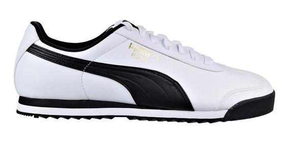 Zapatillas Moda Puma Roma Basic Blanco/negro - Envio Gratis