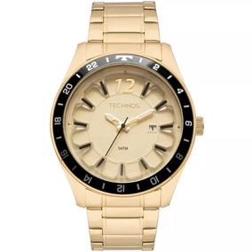 Relógio Masculino Technos Original Aço Dourado 2117las/4x