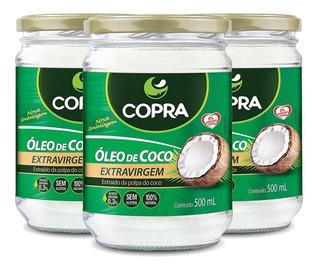 3x Óleo De Coco Extra Virgem - Copra 1,5l
