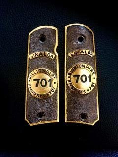 Cachas Colt 1911 Edición 701 El Chapo Guzmán Chapa Oro 24k