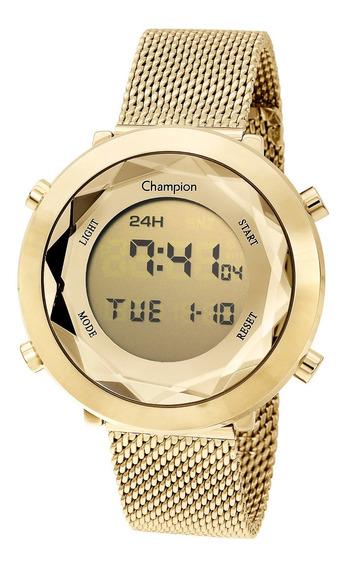 Relógio Champion Feminino Ch48028g Digital Dourado