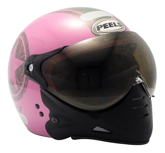 Capacete Moto Peels F21 Navy Rosa C/ 2 Viseiras Juntas 6
