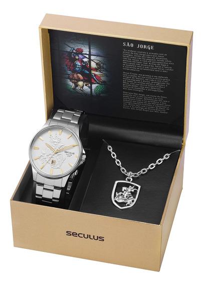 Relógio Seculus Masc 28933g0skna2k1 C/ Cordão De São Jorge