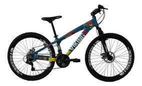 Bicicleta Tuff25 Freeride Aro 26 Az/am 21 Vel Vikingx