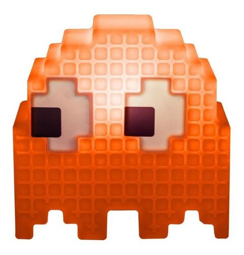 Luminaria De Mesa Criativa 3d Pac Man Fantasma Laranja Clyde