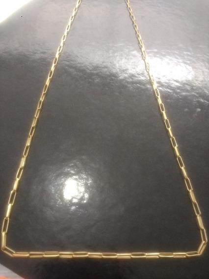 Cordao De Ouro 18k Jóia Diferenciada 70 Cm Com Fecho Cadeado