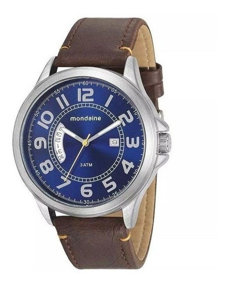 Relógio Mondaine Masculino Prata/marrom 76700g0mvnh1