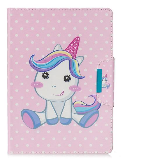 Capa De Tablet Couro Pu Bonito Cavalo iPad 5/6/7/8