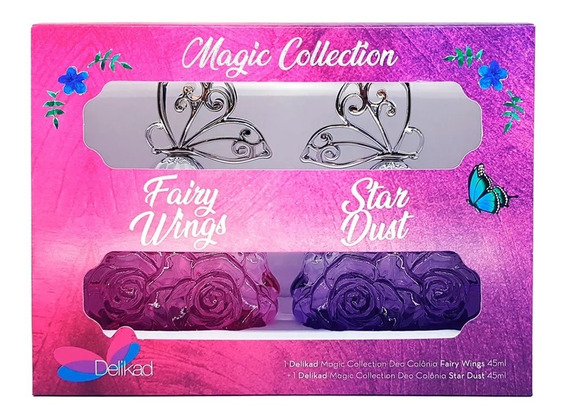 Kit Delikad Deo Colonia Magic Collection Fairy Wings And Sta