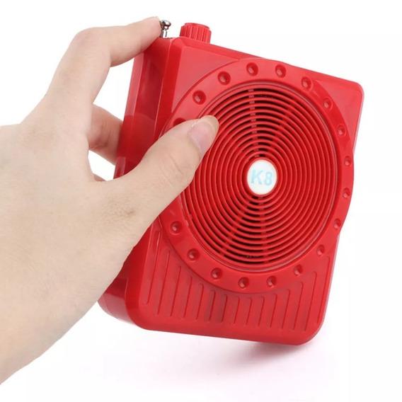 Megafone Amplificador De Voz Potente Com Microfone Radio Fm