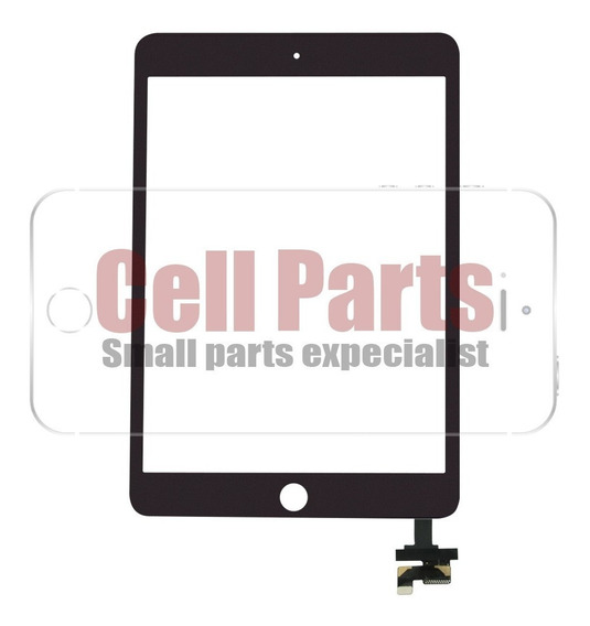 Touch Tela Vidro iPad Mini 1 / 2 Preto + Nota Fiscal