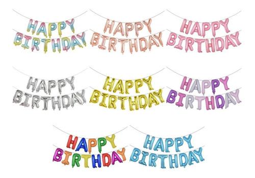 Set Globos Happy Birthday Feliz Cumpleaños 13 Piezas