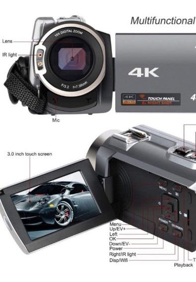 Filmadora Ansteker 16x Digital Zoom 48mp 4k Ultra