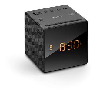 Radio Reloj Despertador Sony Led 100mw Am Fm Negro Icfc-1