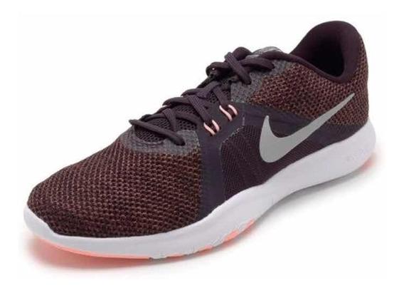 Tênis Fem Nike Flex Trainer 8 Vinho N36 - Original + Nota