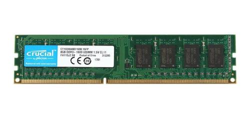 Memória Ddr3 1600 8gb Crucial Ct102464bd160b Desktop