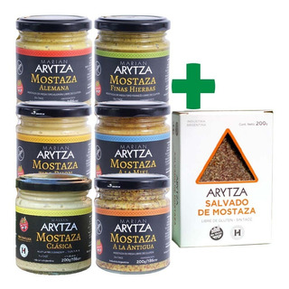 12x Salsas Arytza - Curry, Chimi, Criolla, Mostazas +regalo