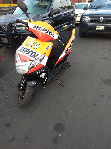 Honda Dio 110 Repsol Naranja Con Negro