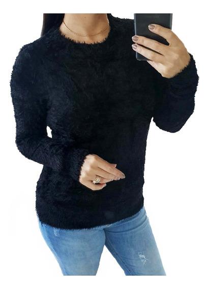Blusa De Frio Casaco Sueter Feminino Felpudo Inverno 2844
