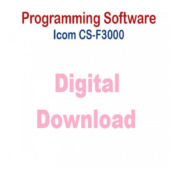 Software De Programacão Para Radio Icom Ic-f3000 Leia A Desc