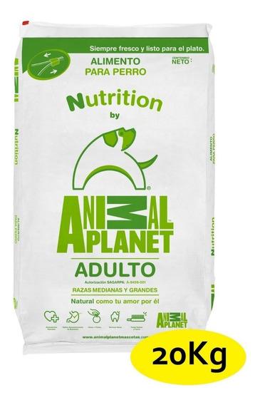 20kg Croqueta Perro Animal Planet Adultos Razas Med Y Gde