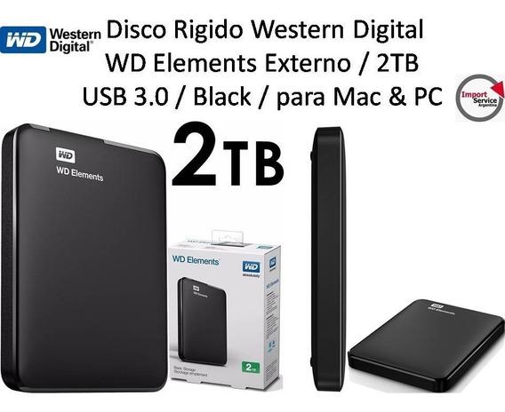 Disco Rigido Western Digital Wd Elements Externo 2tb Usb 3.0