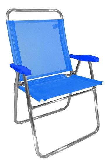 Cadeira De Praia Zaka Alumínio Azul