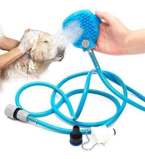 Mangueira Flexível Luva Spray Banho Pet Animais Cães Gatos