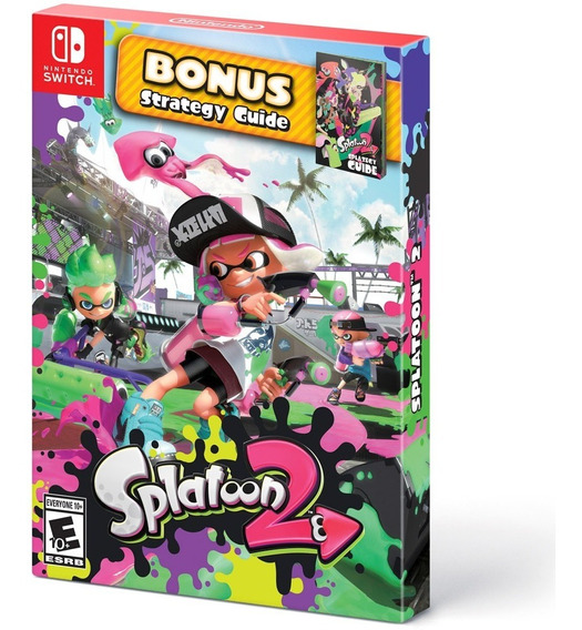 Jogo Splatoon 2 Com Strategy Guide Nintendo Switch