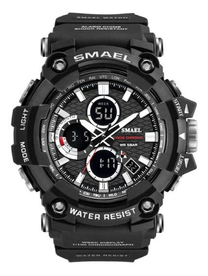 Relógio Militar Esportivo Digital Smael 1802 Prova D,água