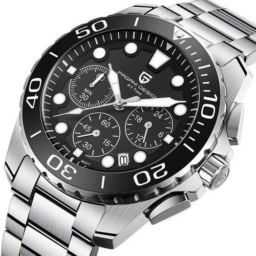 Relógio Pulseira De Aço Cronógrafo Pagani Design Pd- 2773