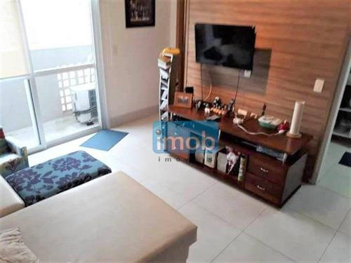 Imagem 1 de 9 de Apartamento Com 3 Dormitórios À Venda, 90 M² Por R$ 750.000,00 - Boqueirão - Santos/sp - Ap8009