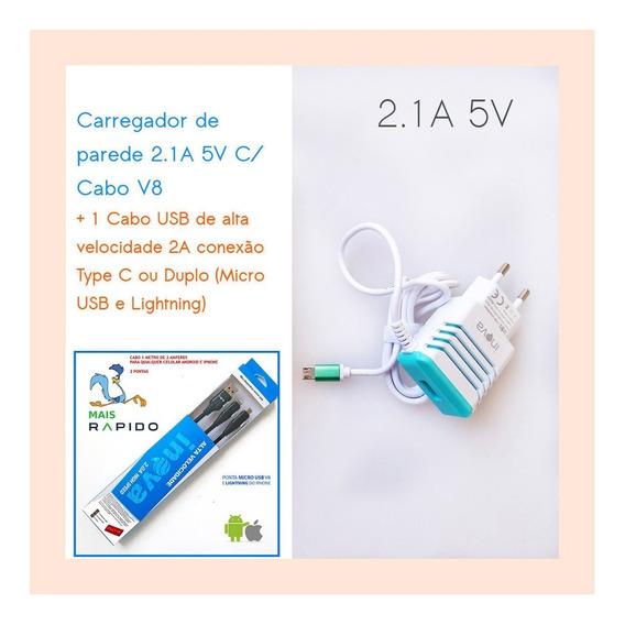 Kit C/4 Fonte Carregador Tabl Positivo Duo Zx3020 V8 5v 2.1a