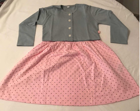 4eebde911 Conjunto De Vestido Y Sweater Para Niña Original Bambino T-8