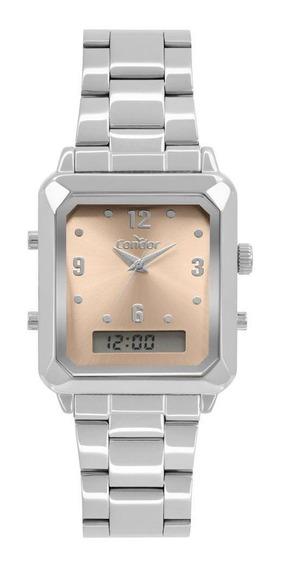 Relógio Condor Top Fashion Feminino Prata Cobj3718ac/4m