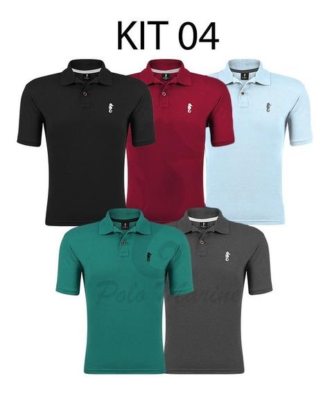 Kit 5 Camisa Gola Polo Masculina Camiseta Atacado Revenda