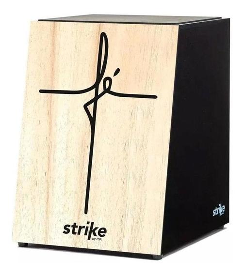 Cajon Fsa Strike Fé Jesus Deus Acústico Madeira Novo Sk 4050