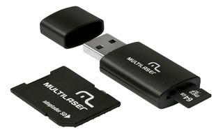 Kit Cartão Microsd 3x1 64gb Com 2 Leitores Mc115 Multilaser