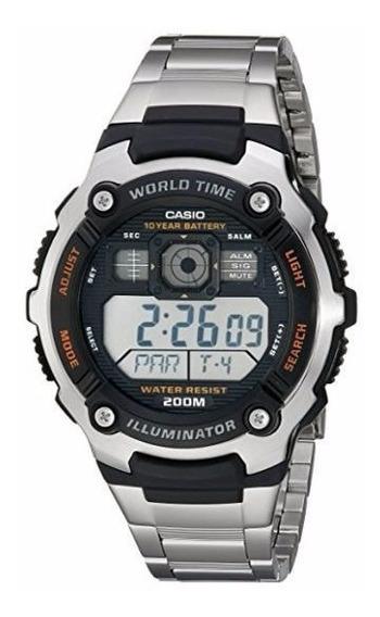 Relógio Casio Masculino Ae2000wd-1av À Prova D`água 200mts