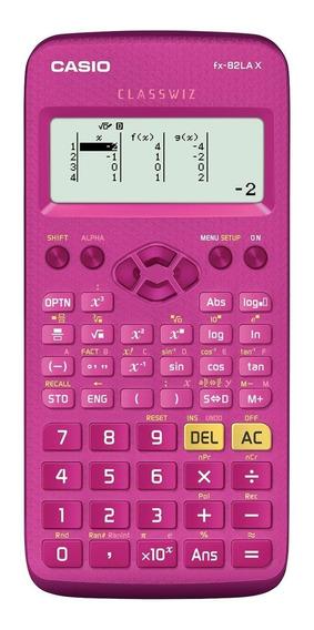 Calculadora Científica Casio 274 Funções Fx-82lax Pk Rosa