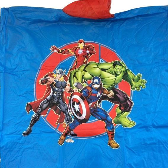 Capa De Lluvia Piloto Infantil Los Vengadores Avenger Marvel