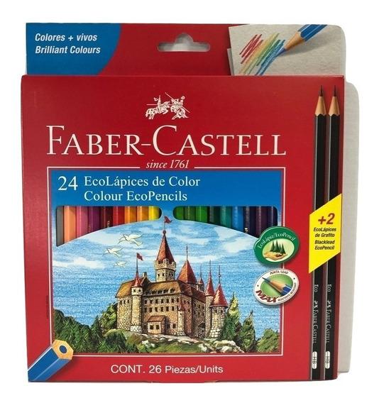 Lapices De Colores Faber Castell X 24 Largos