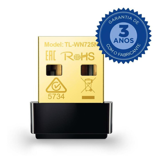Nano Adaptador Tp-link Usb Wireless N150mbps - Tl-wn725n