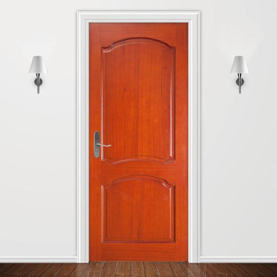 Adesivo Para Porta Decoração Apartamento - Madeira Verniz