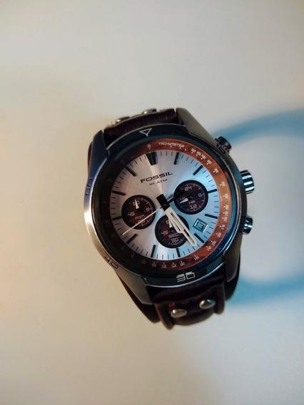 Relógio Fossil C/ Pulseira De Couro Ch-2565