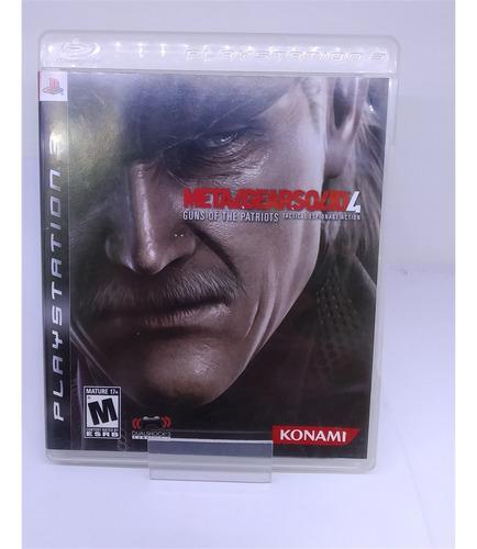 Metal Gear Solid 4 (seminovo) - Ps3