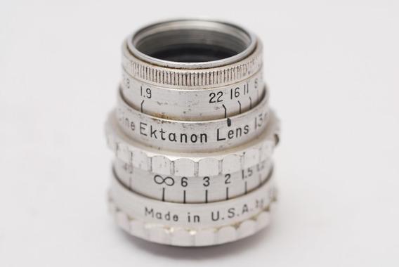 Lente Kodak 8mm Ektanon Made In Usa 13 Mm F 1.9