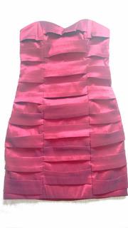 Vestido Tubinho Curto Sem Alça Em Tafetá Com Lycra Modelador