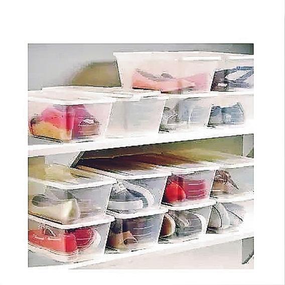 Cajas Plásticas Para Zapatos Y Multiusos Talla Grande