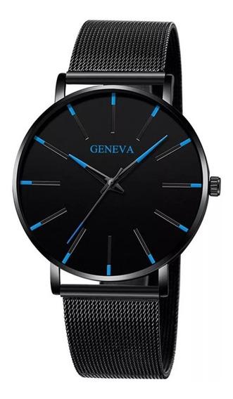 Relógio Geneva Pulseira De Aço